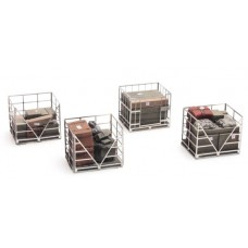 387222 Painted Metal Cage Pallets (OO/HO 1/87th)